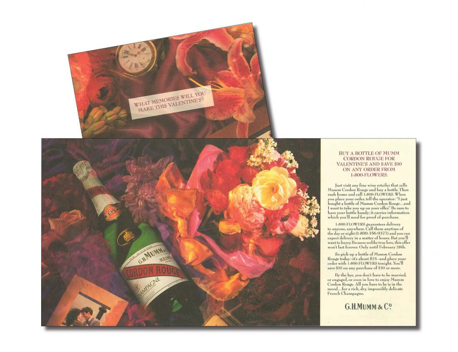 At the bottom of the box, a brochure that asks: What memories will you make this Valentine's?